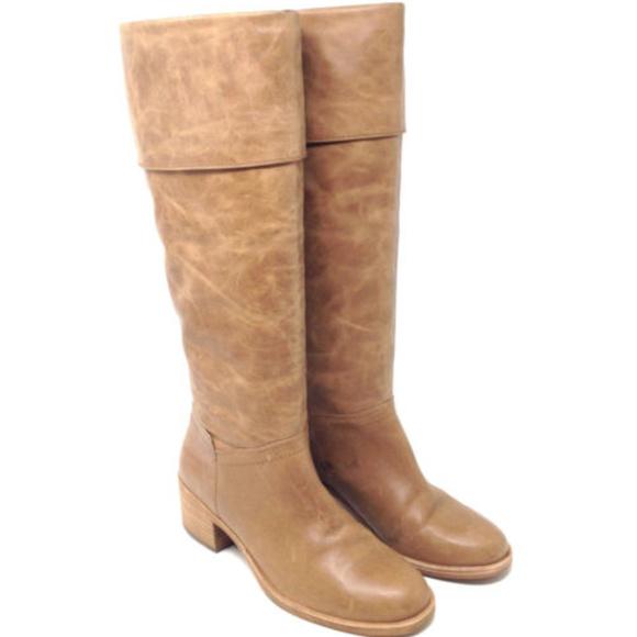 1616cb6fef6 Ugg Carlin Taupe Brown Leather Heeled Riding Boots.  M 5b122f740cb5aa2b0ba36fb8